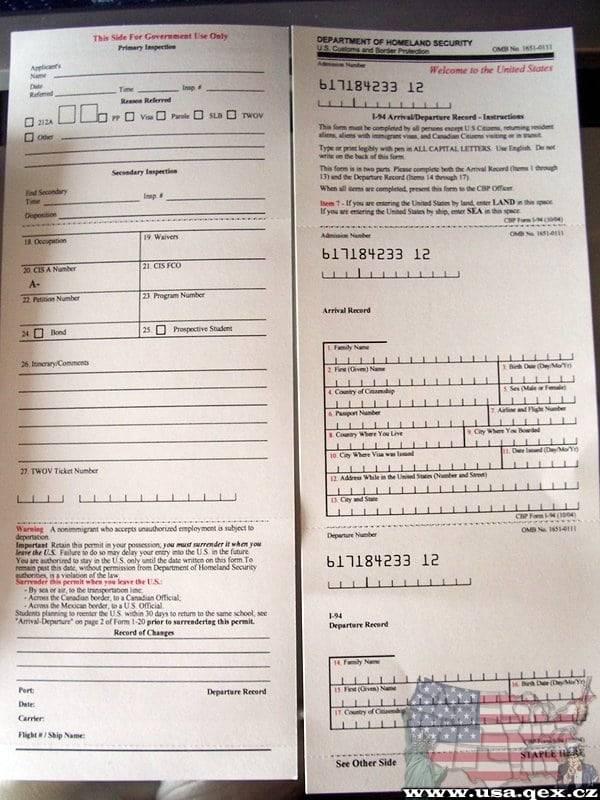 Dhs Form I 94 Morenpulsar