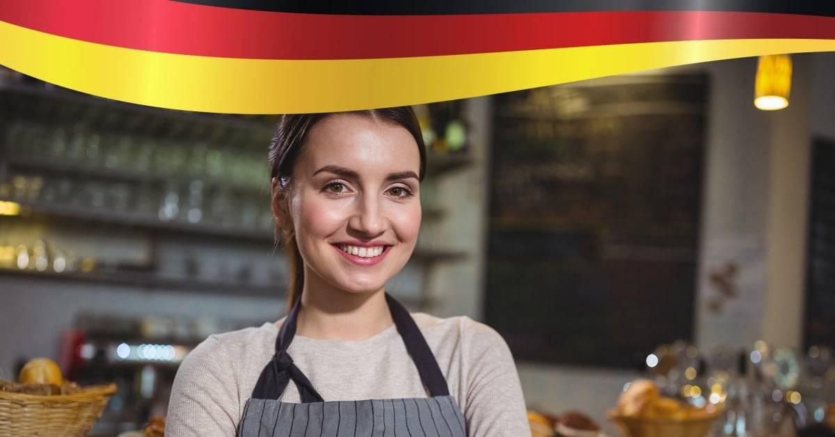 Working Holiday Germany ponude za jesen i zimu - devojka na radnom mestu u kafiću