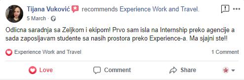Tijana Vukovic Experience